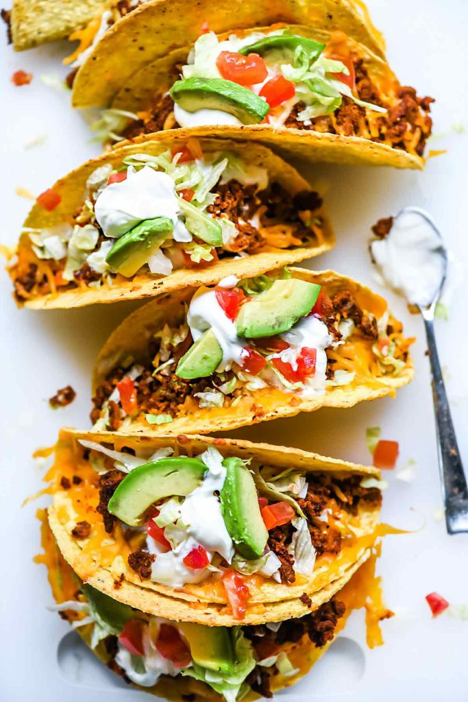 Just Like Taco Bell Tacos Recipe | foodiecrush.com #tacos #tacobell #beef #recipes