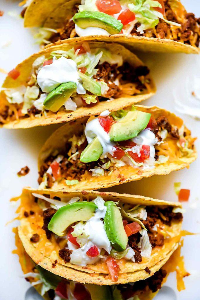 Just Like Taco Bell Tacos Recipe | foodiecrush.com #tacos #tacobell #beef #recipes