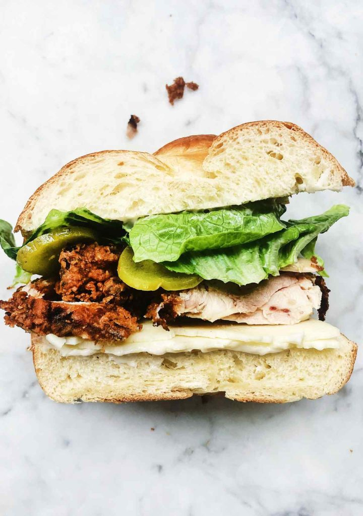 Fried Chicken Sandwich | foodiecrush.com