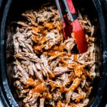 Slow Cooker Pulled Pork Recipe | foodiecrush.com #slowcooker #crockpot #recipes #pulledpork #oven #sandwiches