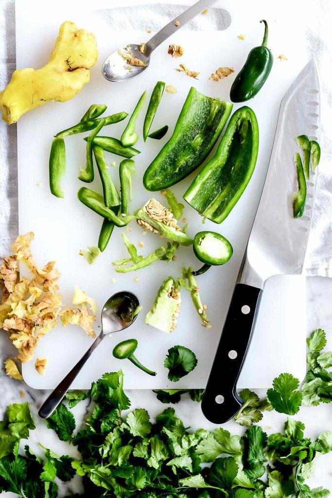 Cilantro Jalapenos Ginger foodiecrush.com