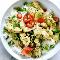 Thai Coconut Chicken and Rice | foodiecrush.com #thai #chicken #coconut #rice #recipes