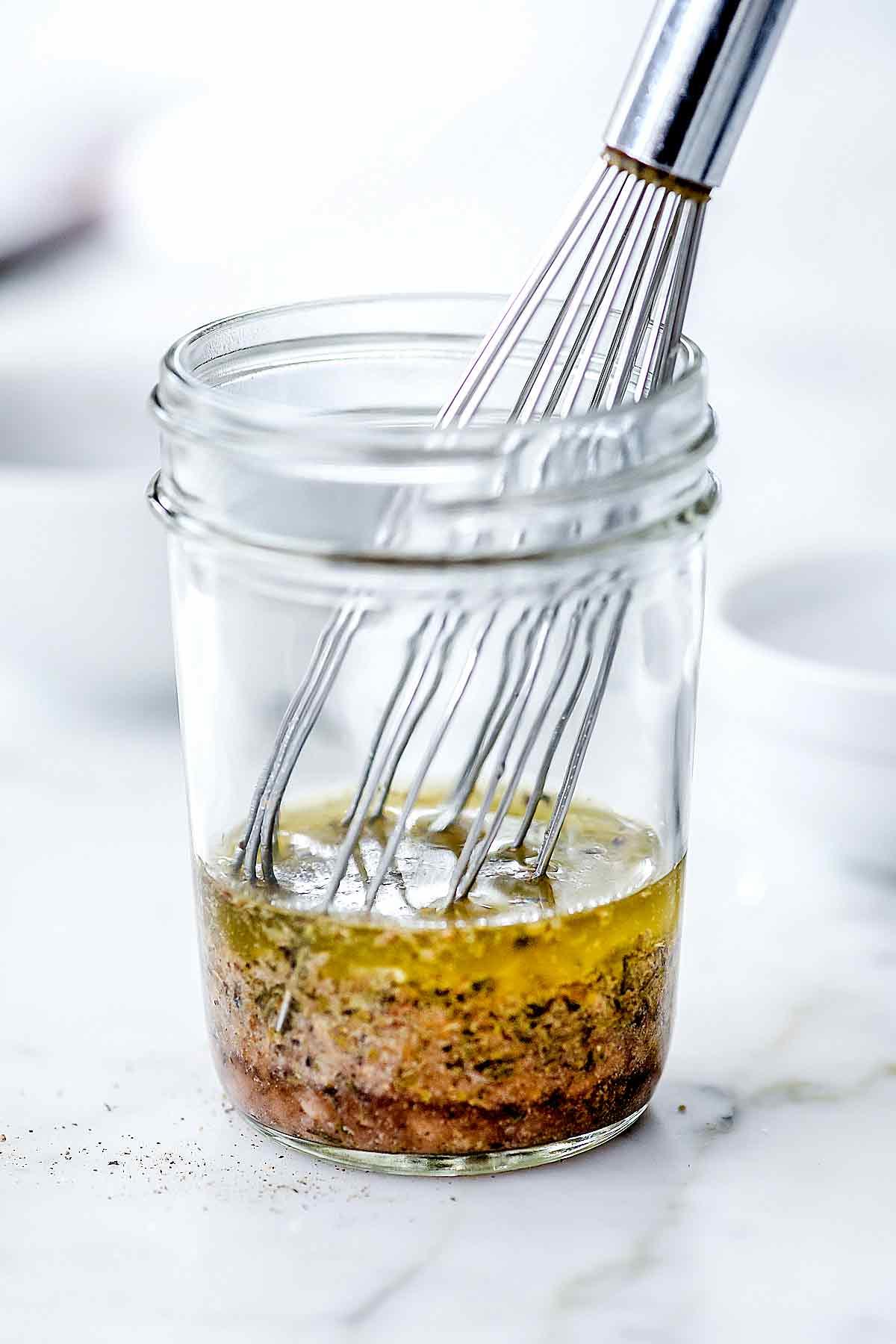 Greek Salad Dressing Recipe Easy Homemade Foodiecrush Com
