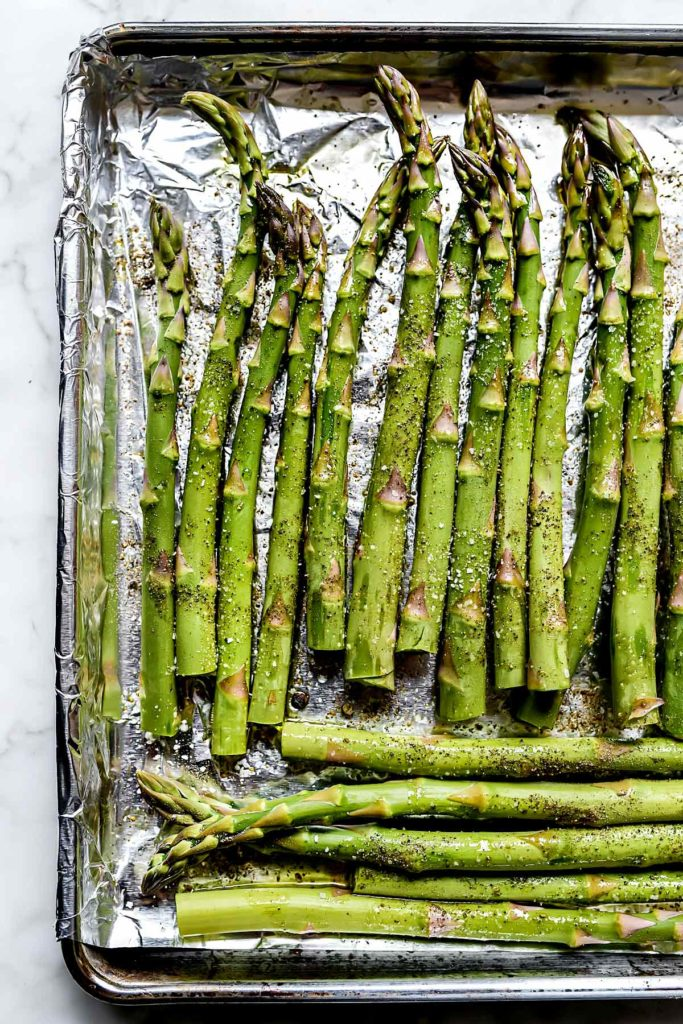 Oven Roasted Asparagus | foodiecrush.com #asparagus #side #recipe #healthy