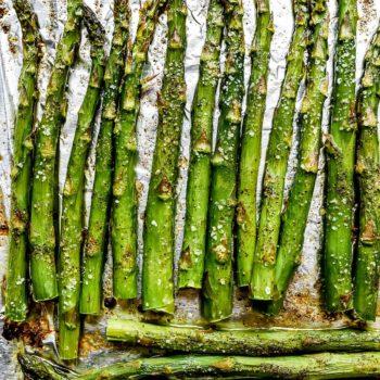 Roasted Asparagus | foodiecrush.com #asparagus #side #recipe #healthy