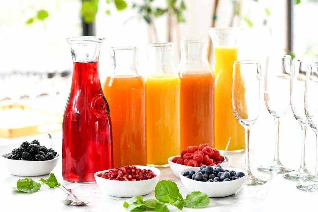 How to Make a DIY Mimosa Bar   foodiecrush.com #mimosa #bar #brunch #champagne