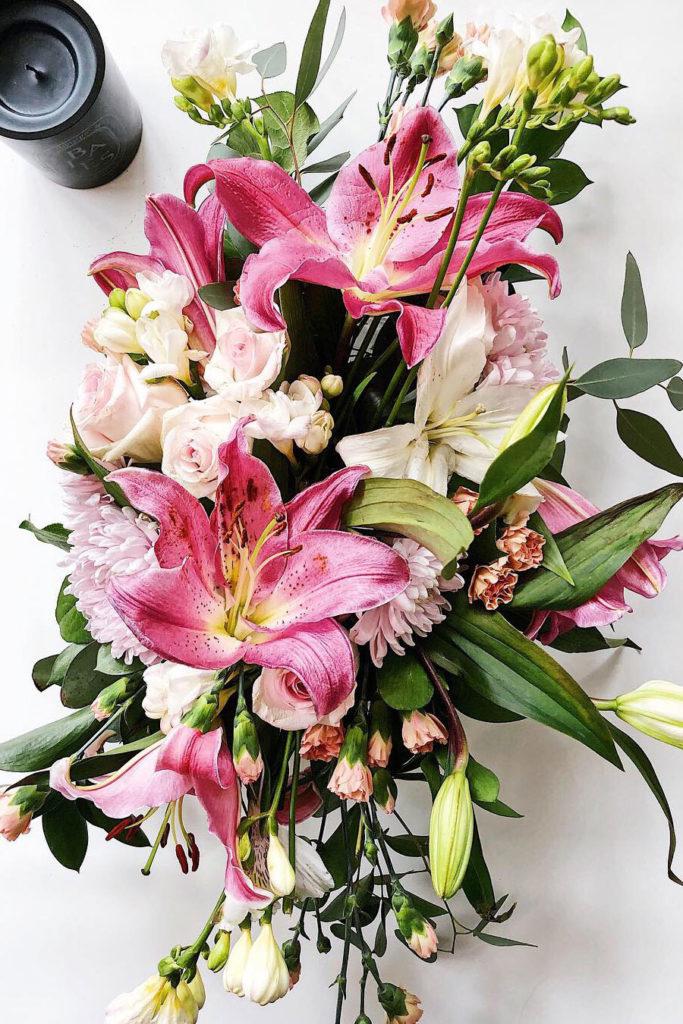 Floral arrangement foodiecrush.com