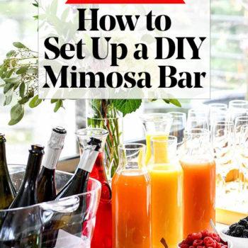 How to Make a DIY Mimosa Bar | foodiecrush.com #mimosa #bar #brunch #champagne