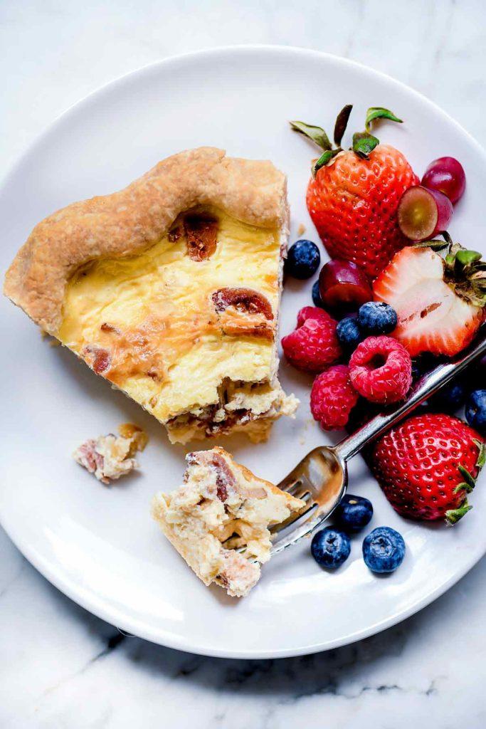 Easy Quiche Lorraine Recipe | foodiecrush.com #quiche #easy #recipes #classic #best