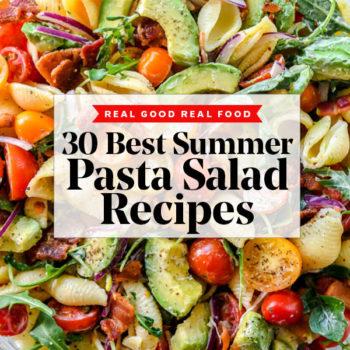30 Pasta Salad Recipes to Make All Summer Long | foodiecrush.com #recipes #pastasalad #summer #pasta #salad