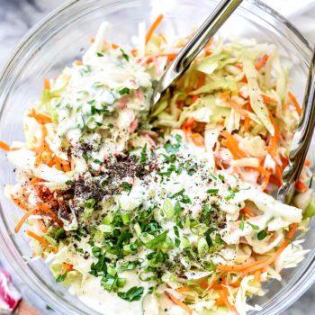 Coleslaw Dressing | foodiecrush.com #dresssing #coleslaw #salad #recipes