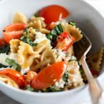 Pasta with Fresh Tomatoes and Ricotta   foodiecrush.com #pasta #wholewheat #recipes #dinner #healthy #tomatoes #ricotta