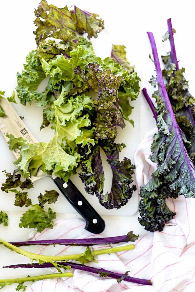 Easy Kale Caesar Pasta Salad   foodiecrush.com #pasta #salad #easy #recipes