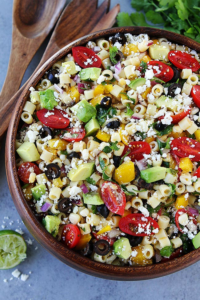 Southwest Pasta Salad from Two Peas and Their Pod on foodiecrush.com