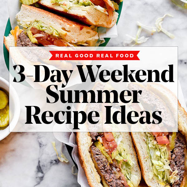 3-Day Weekend Summer Recipe Ideas | foodiecrush.com