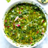 How to Make the Best Easy Chimichurri Sauce | foodiecrush.com #chimichurri #sauce #steak #recipe