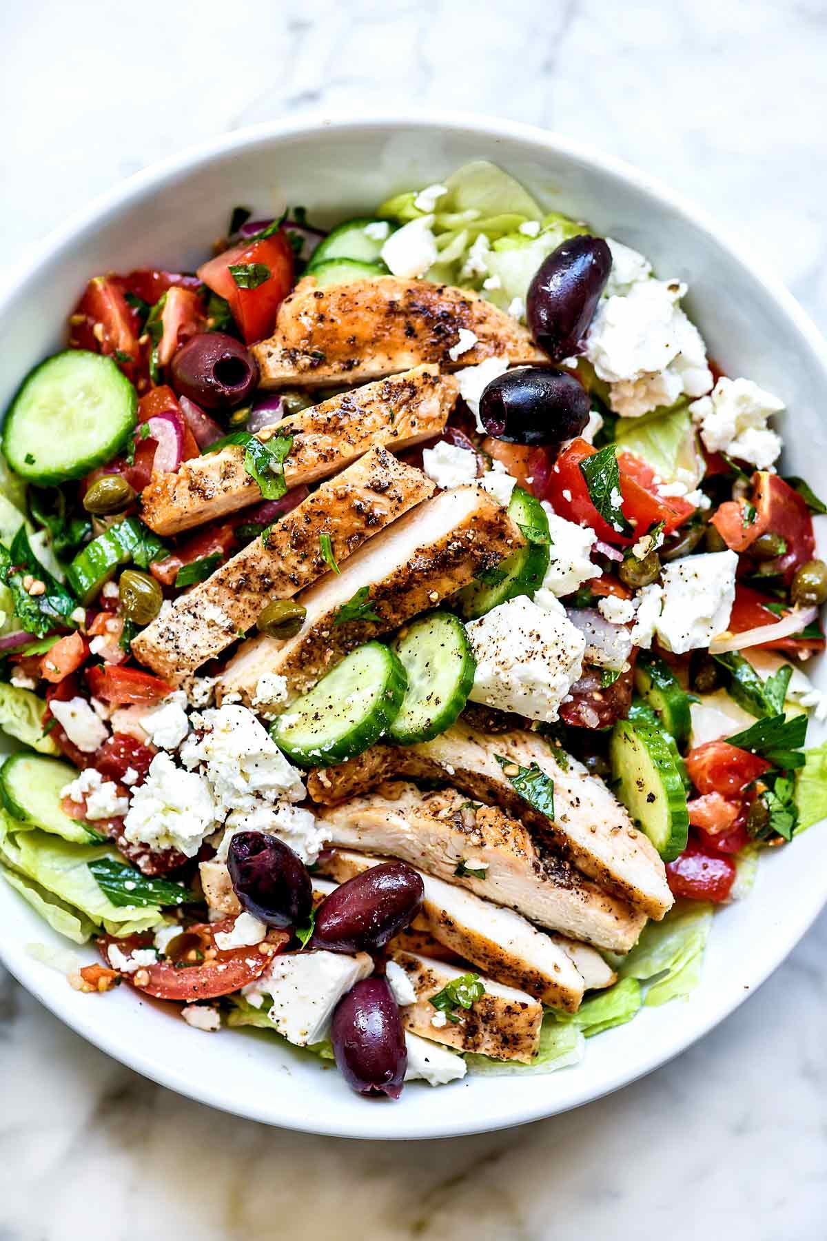 Greek Salad With Chicken Foodiecrush Com