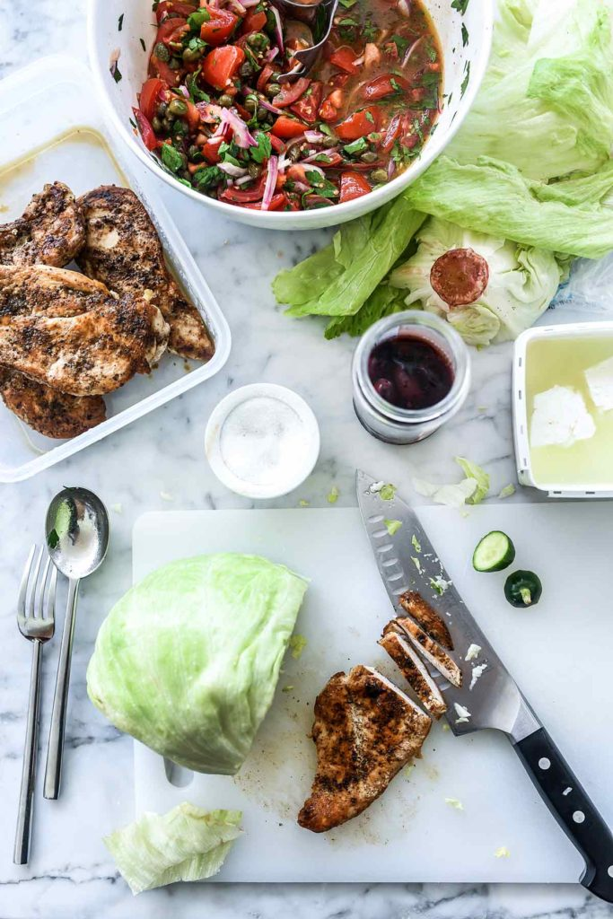 Greek Salad with Chicken   foodiecrush.com