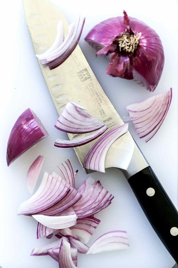 Sliced Red Onion | foodiecrush.com
