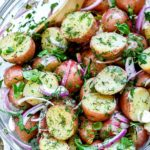 No-Mayo Potato Salad | foodiecrush.com #potatosalad #salads #easy #recipes #healthy