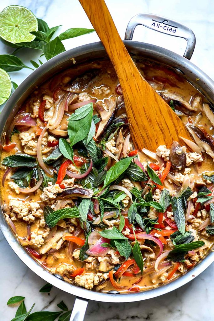 Thai Basil Chicken | foodiecrush.com #thai #dinner #recipe #chicken #basil