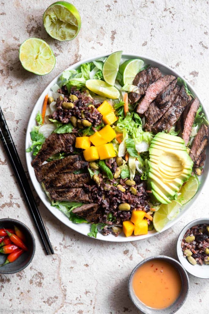 Grilled Thai Beef Salad from Food Faith Fitness on foodiecrush.com