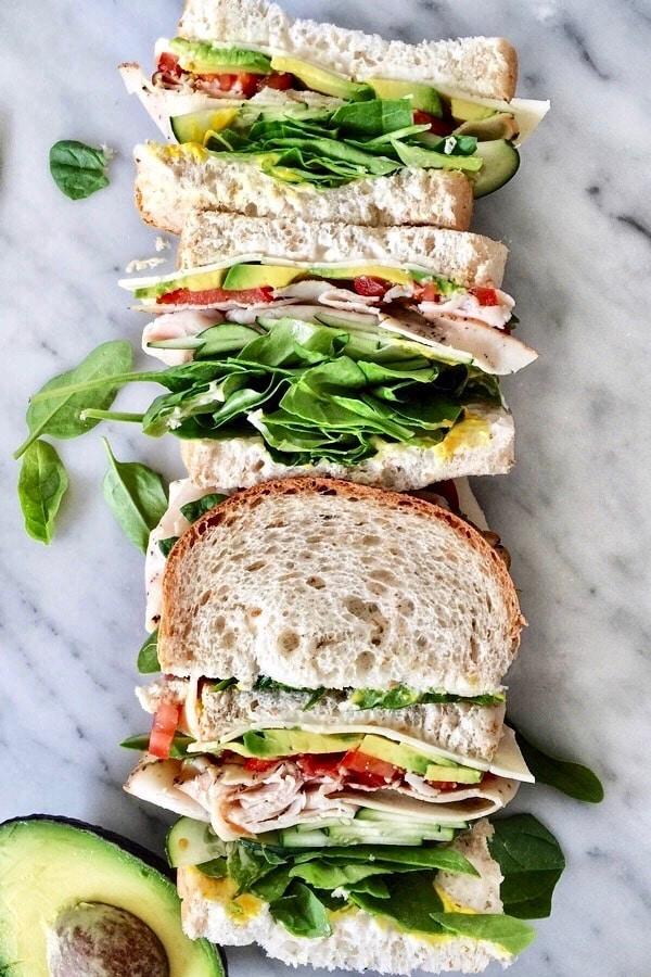 Sandwich stack foodiecrush.com