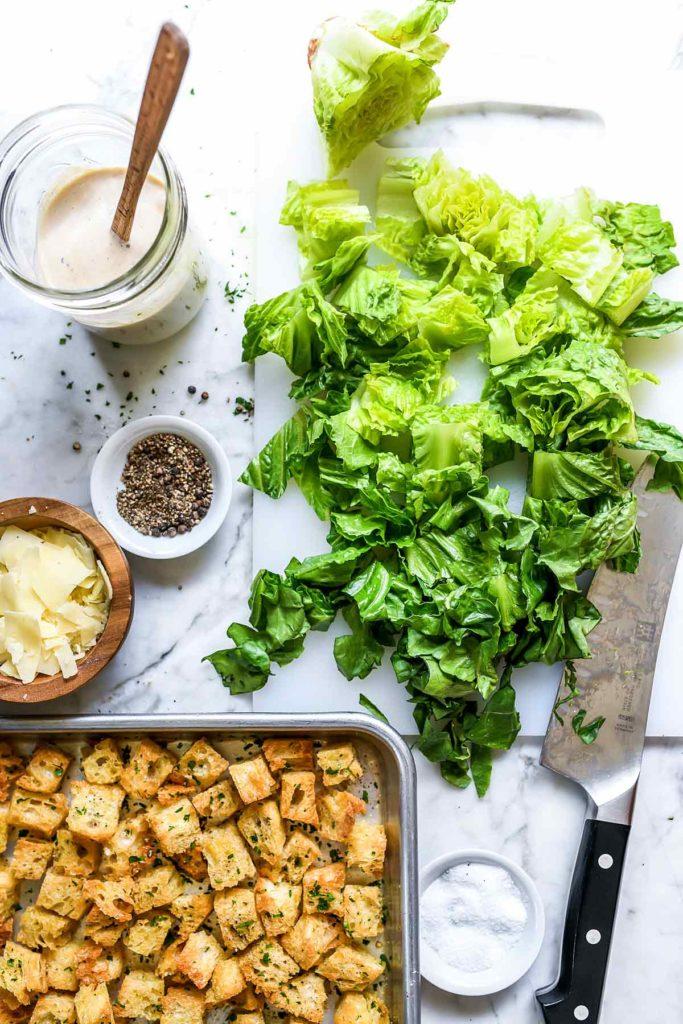 Ingredients Classic Caesar Salad foodiecrush.com