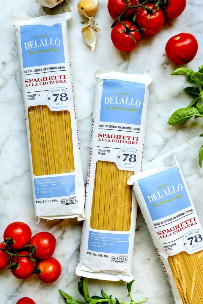 DeLallo Spaghetti foodiecrush.com