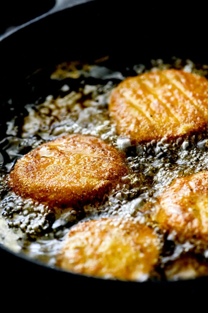 Fried Green Tomatoes | foodiecrush.com #fried #green #tomatoes #recipe