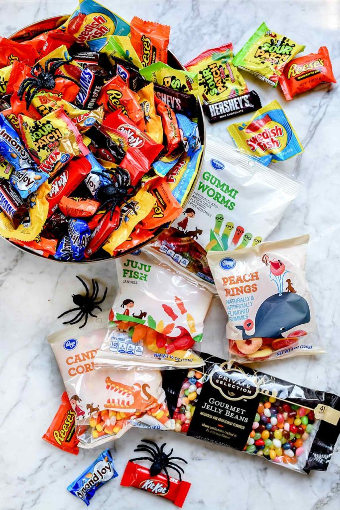 Bowl of Halloween Candy | foodiecrush.com