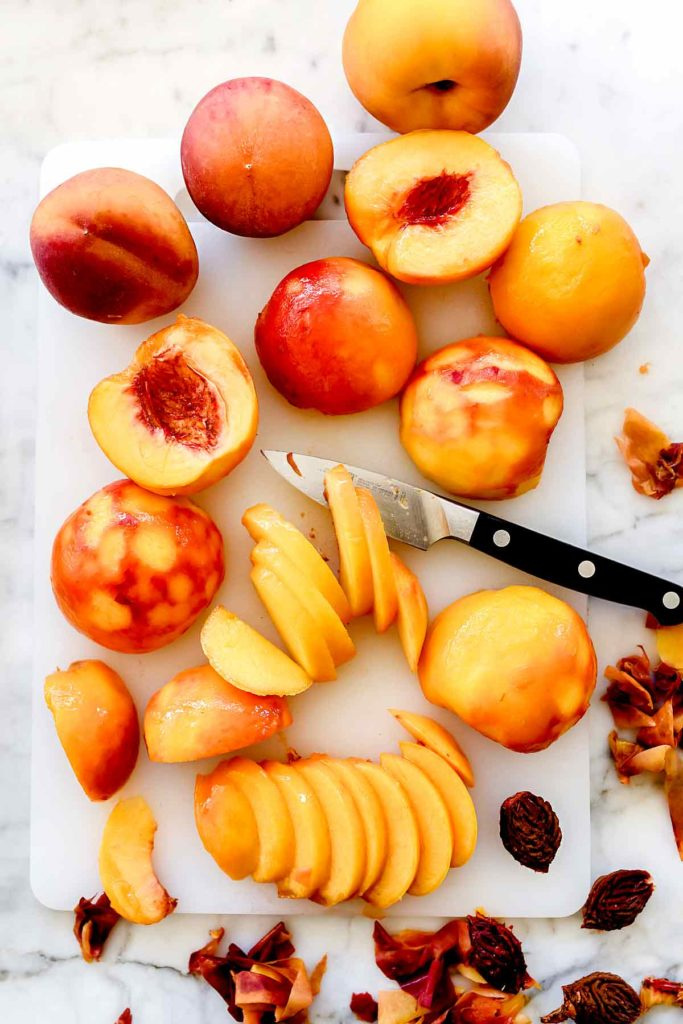 how to peel or skin peaches | foodiecrush.com
