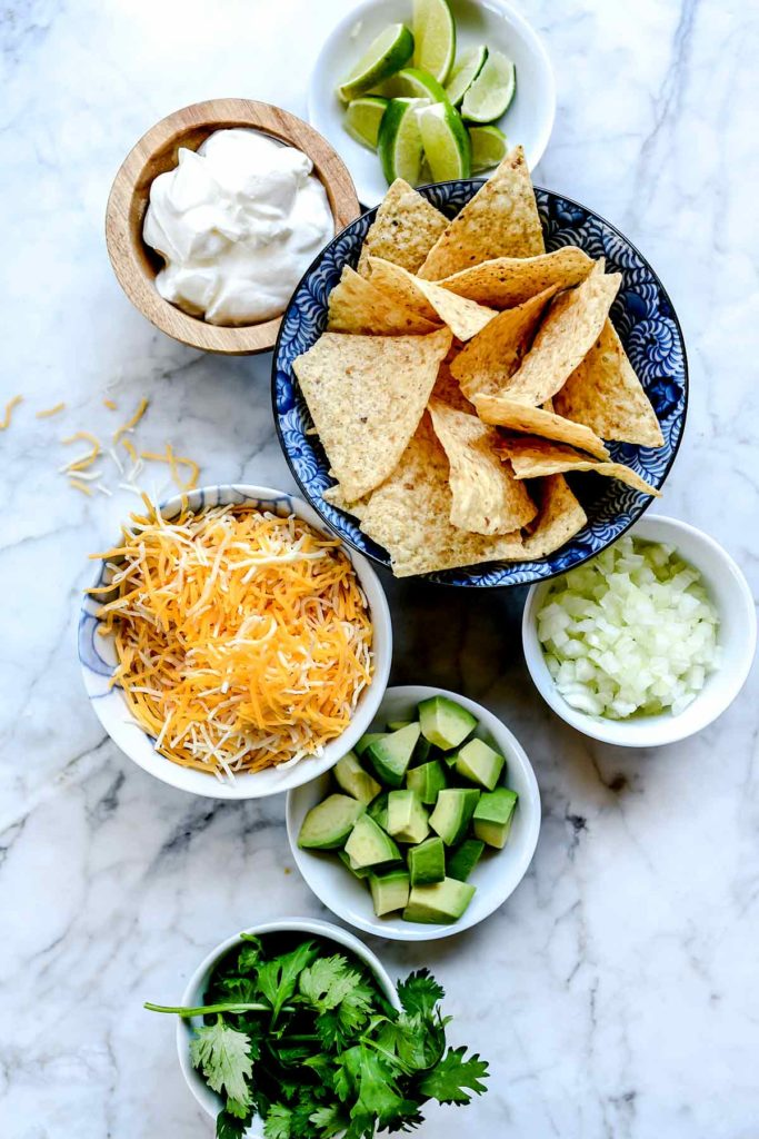 Toppings for Easy Taco Soup (Stove Top or Crock Pot) | foodiecrush.com #soup #dinner #taco