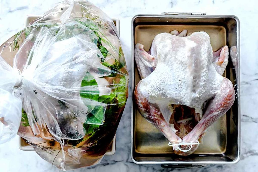 The Best Easy Turkey Brine (Wet or Dry Brine?) foodiecrush.com #turkey #thanksgiving #recipes
