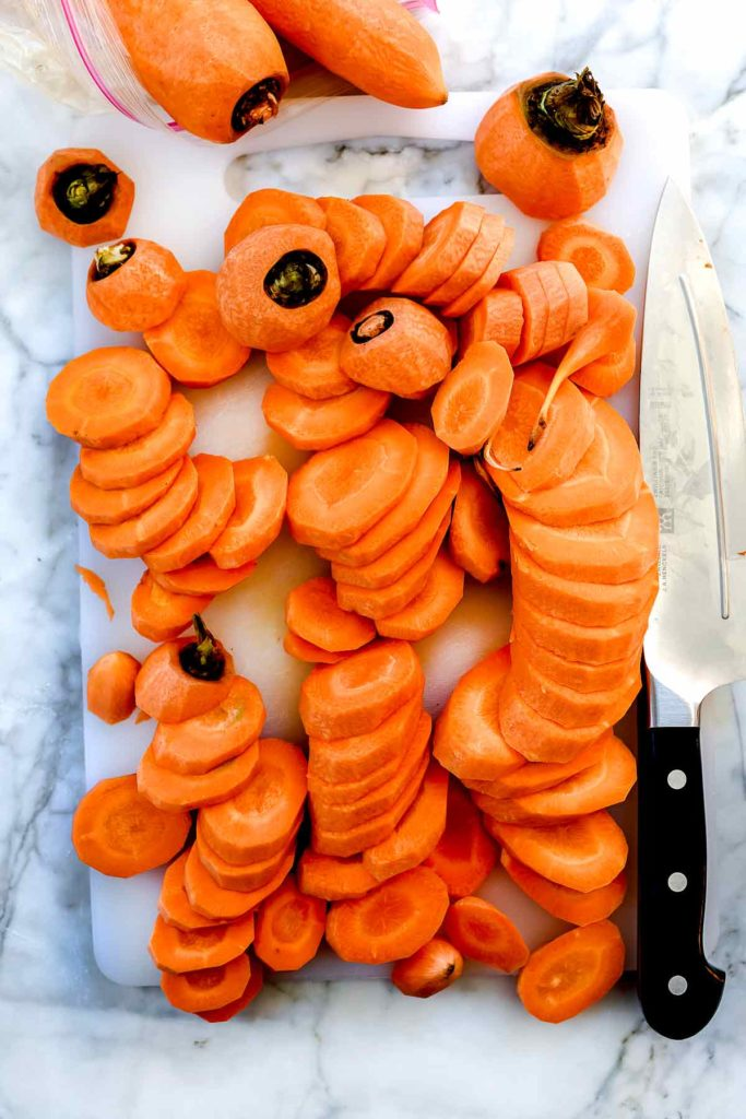 Sliced carrots foodiecrush.com