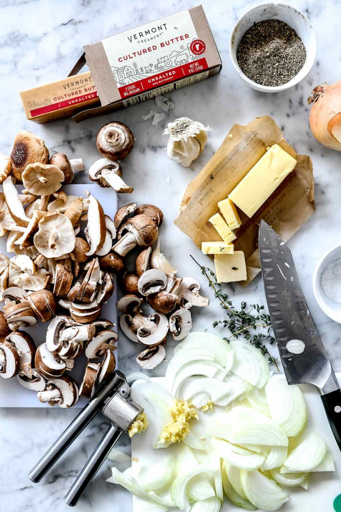 Ingredients Caramelized Onion and Mushroom Crostini | foodiecrush.com