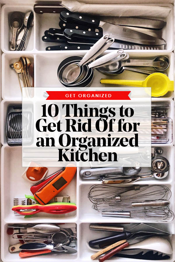 10 Things to Get Rid of Organized Kitchen foodiecrush.com