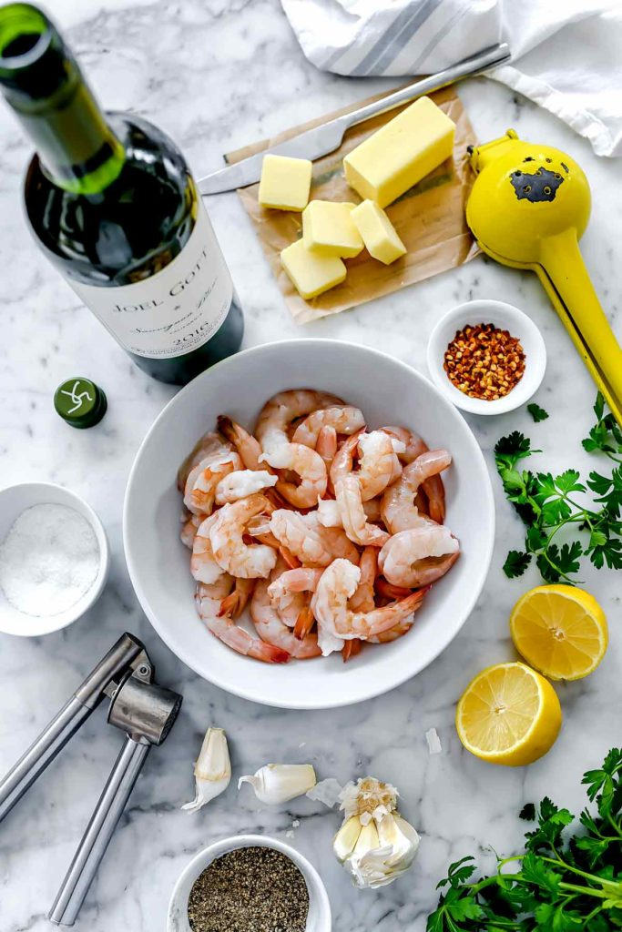 How to Make the Best Easy Shrimp Scampi Ingredients | foodiecrush.com #shrimp #scampi #recipe #healthy
