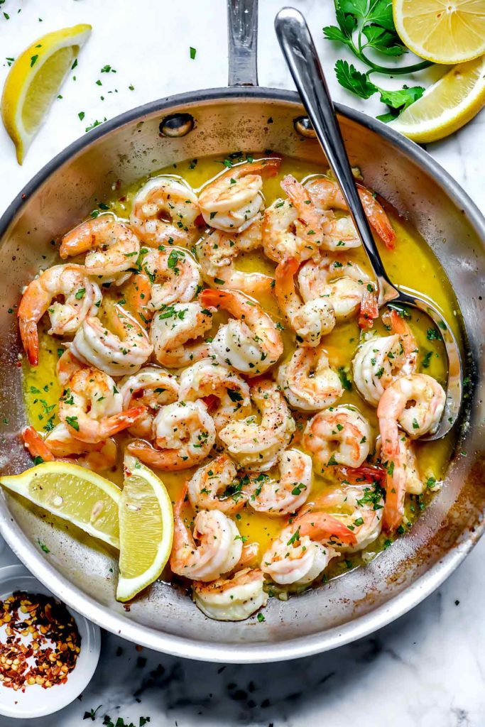 How to Make the Best Easy Shrimp Scampi | foodiecrush.com #shrimp #scampi #recipe #healthy