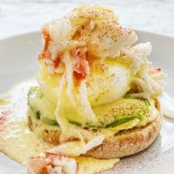 Crab Benedict foodiecrush.com