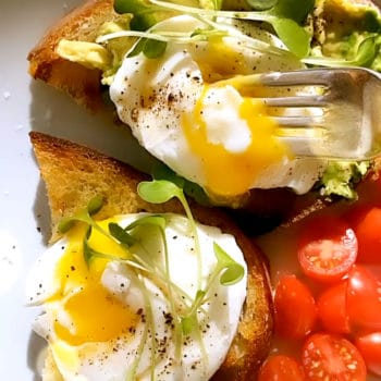 Poached Eggs on Toast foodiecrush.com