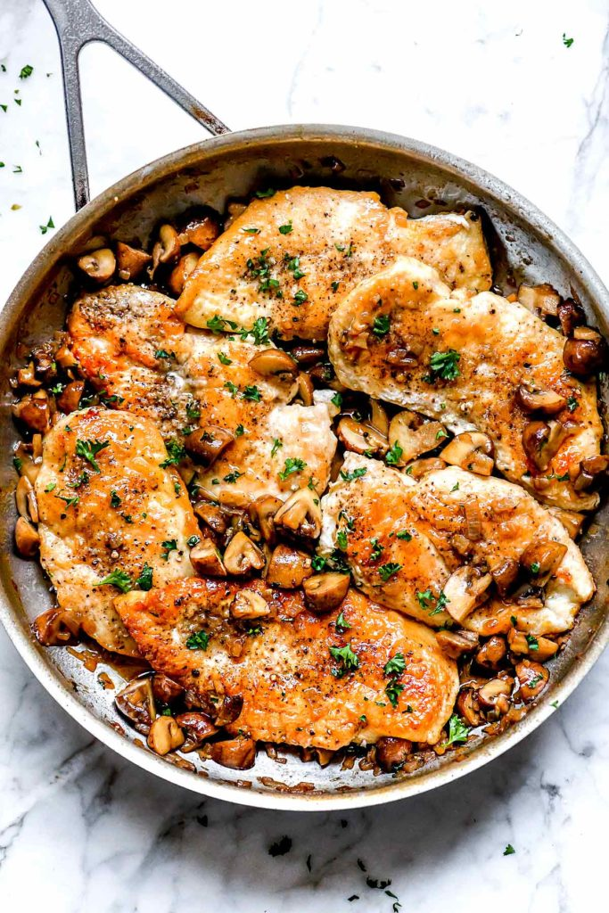 Easy Chicken Marsala | foodiecrush.com #marsala #chicken #dinner #recipe #easy #healthy