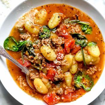 Sausage and Gnocchi Soup | foodiecrush.com
