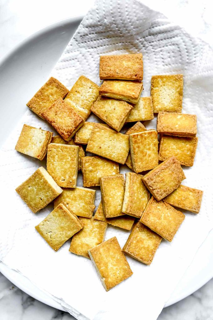 Crispy Fried Tofu foodiecrush.com #tofu #crispy #fried #baked #recipes
