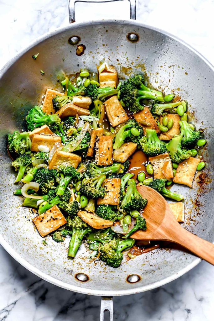 Teriyaki Tofu and Broccoli Stir Fry | foodiecrush.com #broccoli #tofu #stirfry #dinner #recipes #healthy
