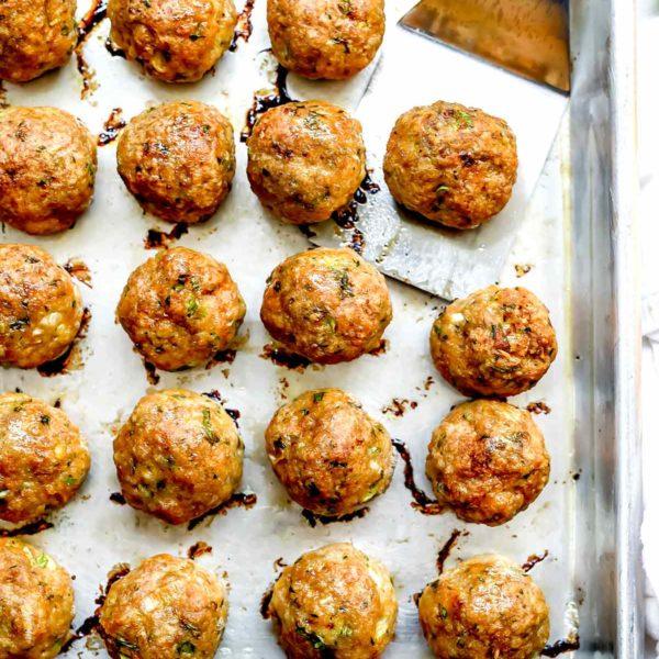 Baked Thai Turkey Meatballs | foodiecrush.com #turkey #meatballs #thai #curry #baked #healthy #homemade #easy #recipes