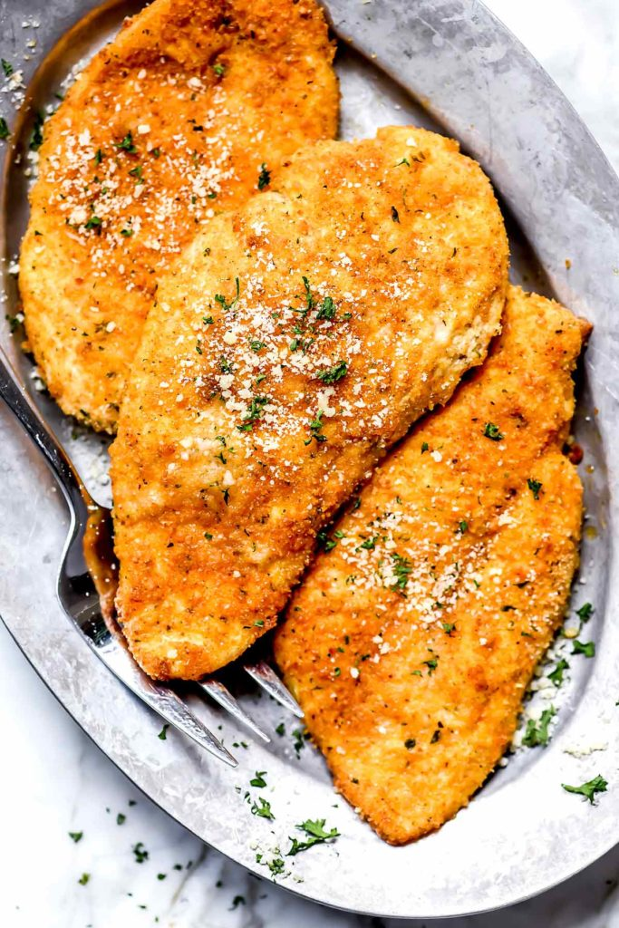 Parmesan Crusted Chicken | foodiecrush.com
