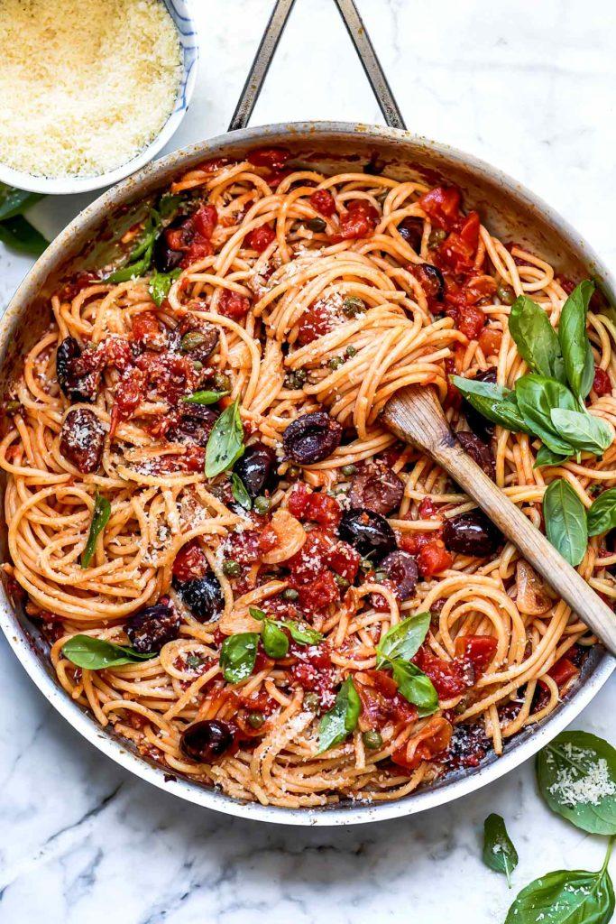 Pasta Puttanesca | foodiecrush.com