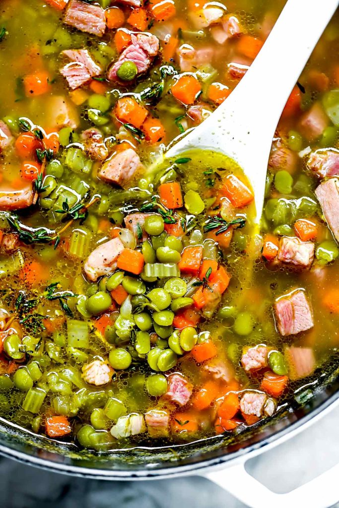 Split Pea Soup with Ham | foodiecrush.com