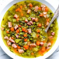 Split Pea Soup with Ham | foodiecrush.com